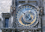 Astronomical Clock Acrylic Prints - Astronomical Clock, Prague Acrylic Print by Victor De Schwanberg