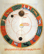 Manuscript Illumination Prints - Astronomy: A Zodiac Print by Granger