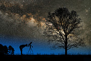 Contemplating Framed Prints - Astronomy Framed Print by Larry Landolfi and Photo Researchers
