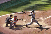 Baseball Uniform Painting Metal Prints - At Bat Metal Print by Lynne Jenkins