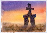 Inukshuk Art - At Dawn by Mohamed Hirji
