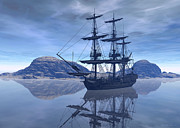 Pirates Digital Art Originals - At destination by Sipo Liimatainen