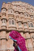 At Hawa Mahal City Palace, Jaipurs Most Print by Axiom Photographic