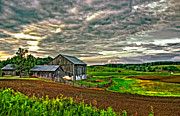 Stormy Skies Acrylic Prints - At One With the Land Acrylic Print by Steve Harrington