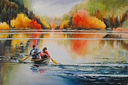 Bannister Painting Originals - At Peace In Algonquin by Debra  Bannister