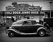 Hot Dogs Photos - At Peters 2 by Perry Webster