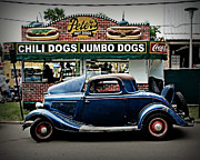 Blue Car Framed Prints - At Peters Framed Print by Perry Webster