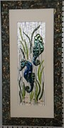 Seahorse Glass Art - At Rest by Gwen Basilica