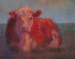Farm Animals Pastels Prints - At Rest Print by Susan Williamson
