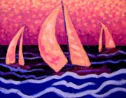 Inspirational Paintings - At Swim Three Boats by John  Nolan