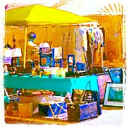 Impressionism Art - At The Antique Show 2 #vintage by Marianne Dow