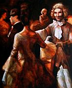 Period Painting Posters - At The Ball 2 Poster by Stuart Gilbert