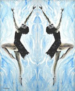 Dancers Mixed Media Framed Prints - At The Ballet Framed Print by Patrick J Murphy