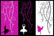 At The Ballet Triptych 2 Print by Angelina Vick