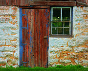 Old Doors Framed Prints - At The Barn Framed Print by Perry Webster