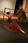 Ballet Dancers Metal Prints - At the Barre Metal Print by Kate Purdy