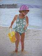 British Columbia Pastels - At The Beach by Marina Garrison