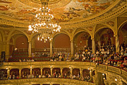 Opera House Framed Prints - At The Budapest Opera Framed Print by Madeline Ellis