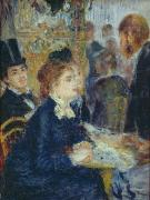 1877 Paintings - At the Cafe by Pierre Auguste Renoir