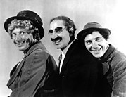 Groucho Marx Art - At The Circus, From Left Harpo Marx by Everett