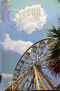 Ferris Wheels Framed Prints - At The Circus Framed Print by Jan Amiss Photography