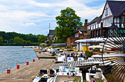 Boathouse Row Philadelphia Prints - At the Docks - Boathouse Row Print by Bill Cannon