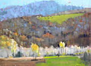 Berkshire Hills Posters Painting Originals - At The Edge by Len Stomski