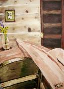 Cabin Wall Originals - At the end of a day by Shelley Bain