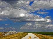 Grey Clouds Photos - At the End of the Road to Nowhere by Elizabeth Hoskinson
