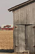 Barn Door Mixed Media Posters - At the Farm Poster by Bruce McEntyre