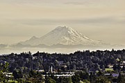 Snow Cap Photos - At the Foot of the Sleeping Giant Mt Rainer Washington State by James Heckt
