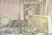 Needlepoint Framed Prints - At The French Market Framed Print by Jan Amiss Photography