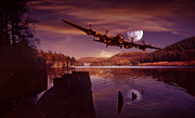 Derwent Reservoir Prints - At The Going Down of The Sun Print by Nigel Hatton