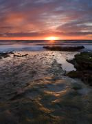 Sunset Seascape Photo Prints - At the Horizon Print by Mike  Dawson