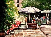 Impressionistic Market Painting Prints - At the Market Print by Elizabeth Robinette Tyndall