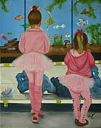 Girls Posters - At the Pet Store Poster by Joni McPherson
