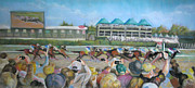 Kentucky Pastels - At the Races by Carole Haslock