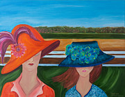 Kentucky Derby Painting Originals - At the Races by Dani Altieri Marinucci
