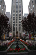 Fontain Metal Prints - At The Rockefeller Center Metal Print by Christiane Schulze