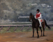 Kentucky Derby Painting Originals - At the Start by Heather Burton