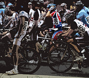 Bike Riding Prints - At the Starting Gate Print by Steven  Digman