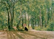 Surrounding Prints - At the Summer Cottage Print by Ivan Ivanovich Shishkin