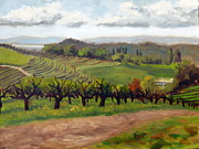Grapevines Painting Originals - At the Top of Kunde by Char Wood