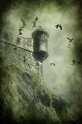 Castle. Birds Posters - At the Top Poster by Svetlana Sewell