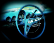 Dash-board Framed Prints - At the wheel Framed Print by Perry Webster