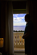 Sicily Prints - At the Window in Taormina Print by Madeline Ellis