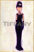 Little Girls98 Paintings - At Tiffanys by Ricky Sencion