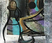 Waiter Mixed Media Metal Prints - At your Service Metal Print by Kelly Turner