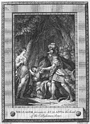 Huntress Framed Prints - Atalanta And Meleager Framed Print by Granger