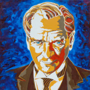 Turkey Painting Metal Prints - Ataturk Metal Print by Dennis McCann